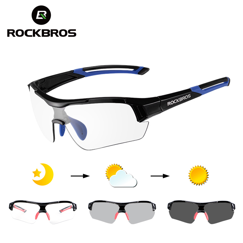 ROCKBROS Photochromic Cycling Sunglasses Eyewear UV400 Polarized MTB Road Bicycle Goggles Women Men Outdoor Sports Bike Glasses obaolay outdoor cycling sunglasses polarized bike glasses 5 lenses mountain bicycle uv400 goggles mtb sports eyewear for unisex