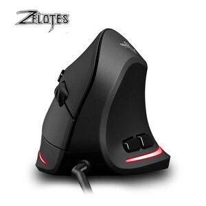 Image 3 - Zelotes mouse com fio vertical T 20, mouse usb programável, 6 botões, led óptico, desktop, pc, 3200dpi, ajuste 3d, mouse para jogos