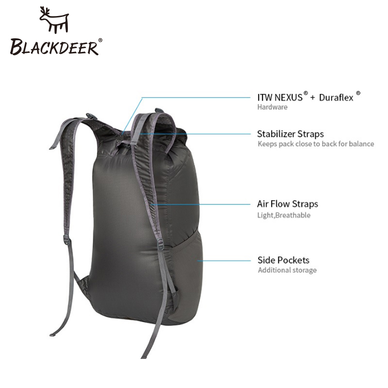 Blackdeer Outdoor Camping Backpack Waterproof Finest 30D Cordura Bags 24L  Ultralight Folding Handy Durable Travel Hiking Bag  29ed00f73583c
