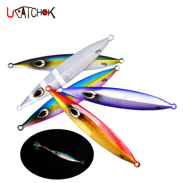 3pcs/pack Sea Fishing Lures Metal Jig 150g/200g  Lead Fish Spoon Lure Vertical Jigging Bait with Hook Assist