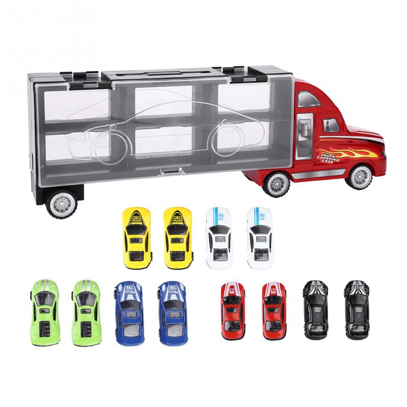 Diecasts & Toy Vehicles Punctual 13pcs/set Zinc Alloy Plastic Baby Model Car Toy Die-cast Alloy Vehicle Educational Toy For Lot Toddler Kids Great Gift