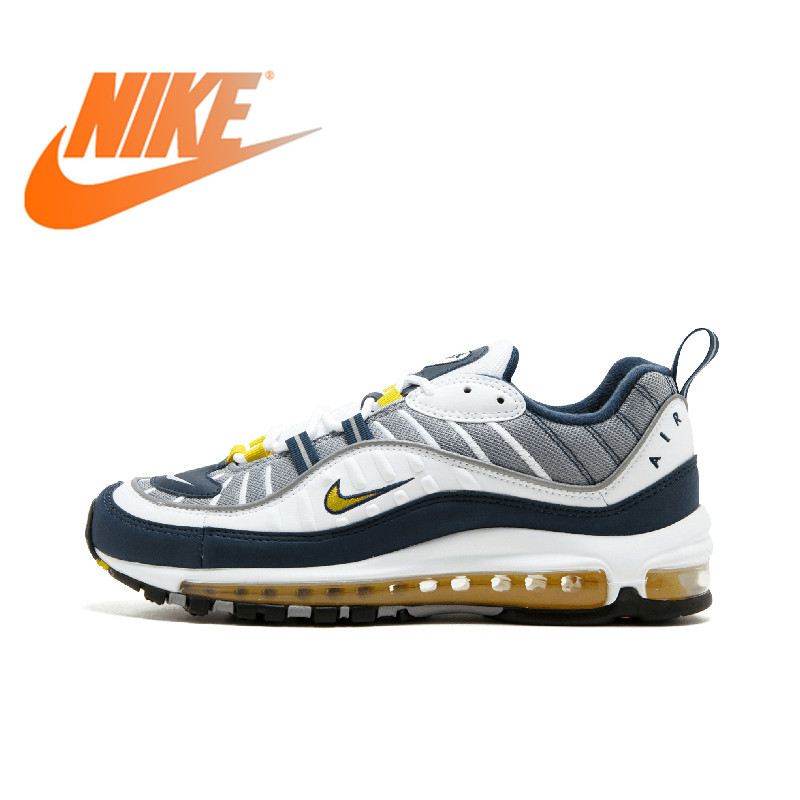 30364f81bb Original NIKE Air Max 98 Mens Breathable Running Shoes Sport Outdoor  Sneakers Footwear Designer Athletic 2019 New Arrival 640744