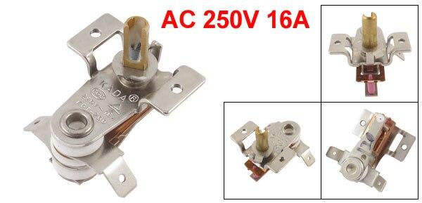sourcing map AC 250V 16A 100 grados Celsius de temperatura ajustable para termostato horno el/éctrico