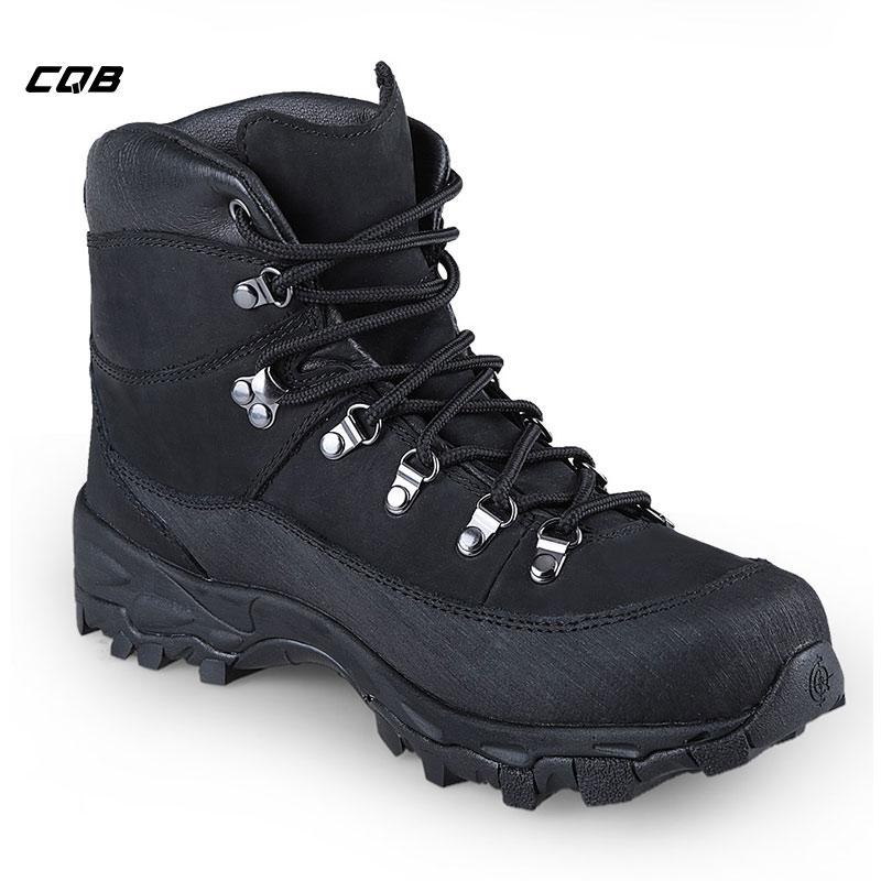 CQB Outdoor Sports Sneakers Mænd Vandretøj Skridsikker TacticalBoots Real Leather Camping Trekking Shoes
