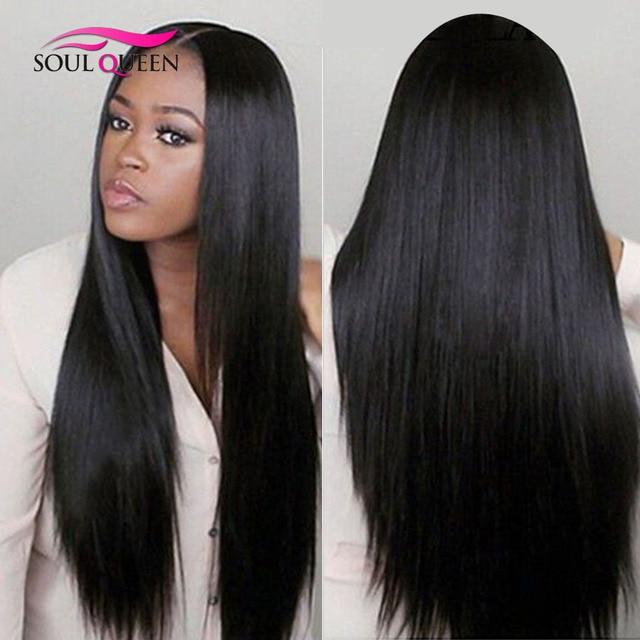 Hair Mongolian Straight Wig Unprocessed Virgin Hair Weave Remy Human