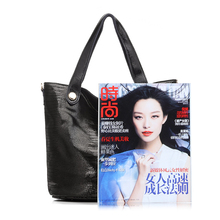 REALER brand new genuine leather handbag women classic serpentine prints leather tote bag female tassel shoulder bags