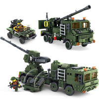 594Pcs Field Army Series Guidance Radar Vehicle Bricks Action Figures Educational Building Blocks Lepins KAZI Toy