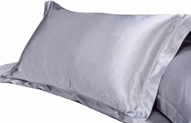 1 cái Tinh Khiết Thi Đua Silk Satin Pillowcase Single Gối Bìa Nhiều Màu