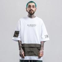 2017 Tide Brand Spring Summer T Shirt New Fashion Men High Street Loose Stitch Pocket Man