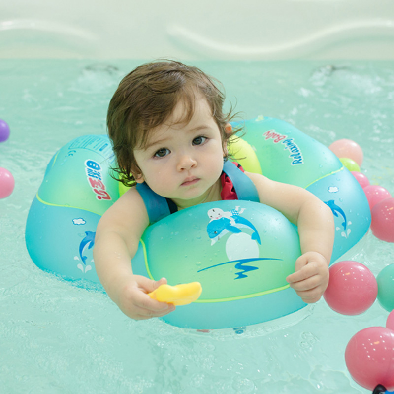 Baby Swimming Ring Inflatable Infant Armpit Floating Kids Swim Pool Accessories Circle Bathing Eco-friendly PVC 0.3mm