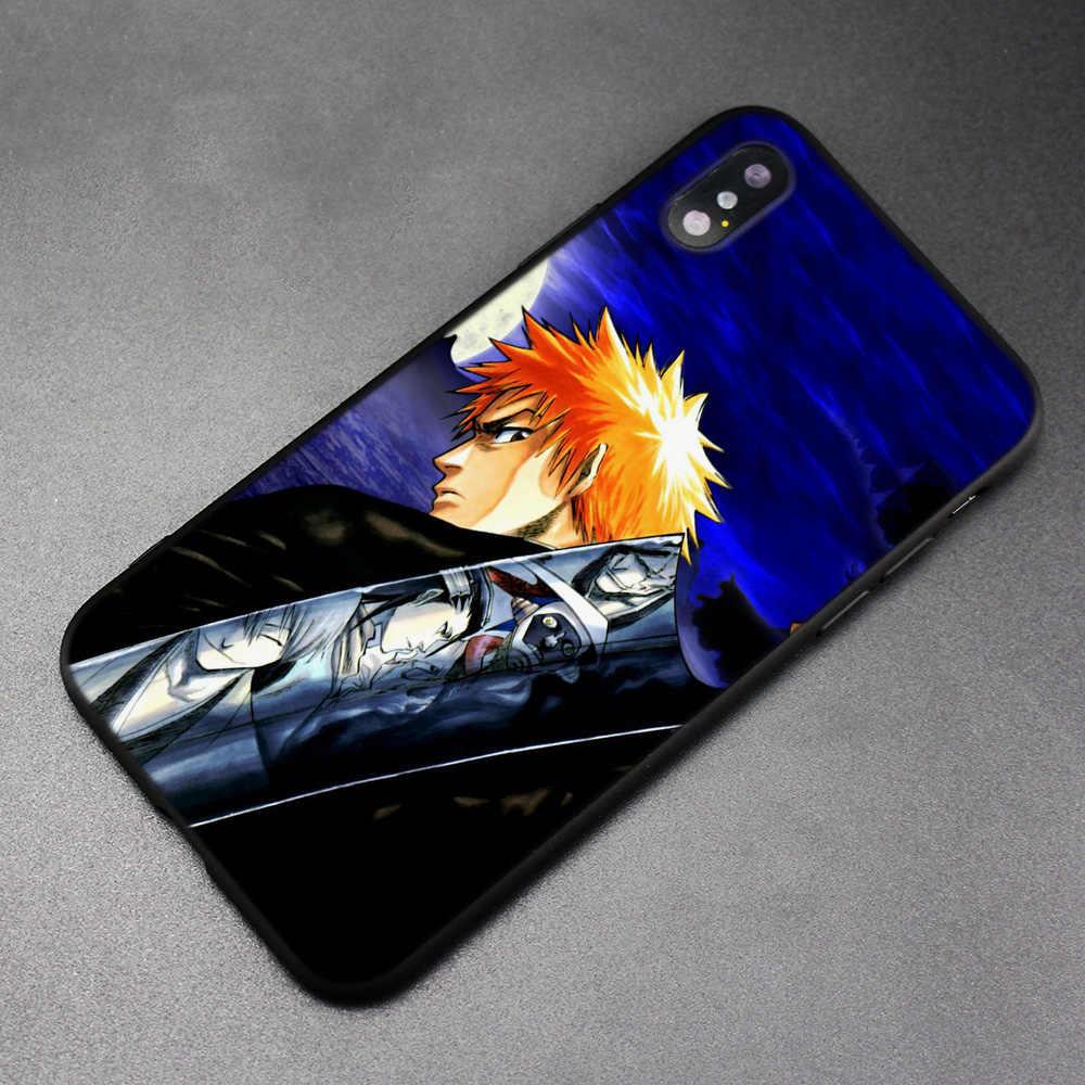 Аниме Блич Куросаки Ичиго черный скраб силиконовый чехол для iPhone XS Max X XR 6 6s 7 8 Plus 5 SE 5s iPhone 11 11Pro Max
