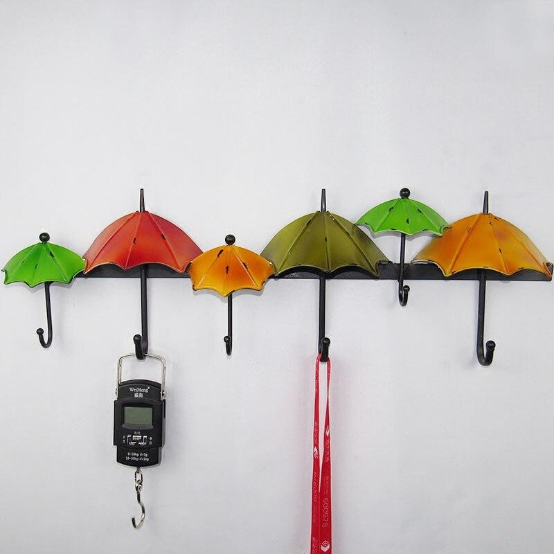 Fers américains parapluie clé crochets dossiers créatifs mur murs Top vêtements crochet personnalisé mur décoratif porte-clés