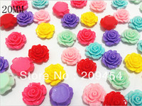 Factory Price 8mm 10mm 13mm 15mm 20mm Flatback Resin Flower Beads Resin Rose NO Hole