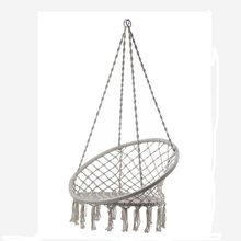 Handmade Knitted Swing Chair Outdoor Cotton Rope Patio Garden Hammock Chair Swing Perfect for Indoor/Outdoor Home, Patio, Deck(China)
