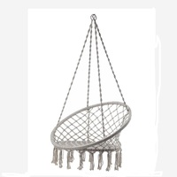 Handmade Knitted Swing Chair Outdoor Cotton Rope Patio Garden Hammock Chair Swing Perfect For Indoor Outdoor
