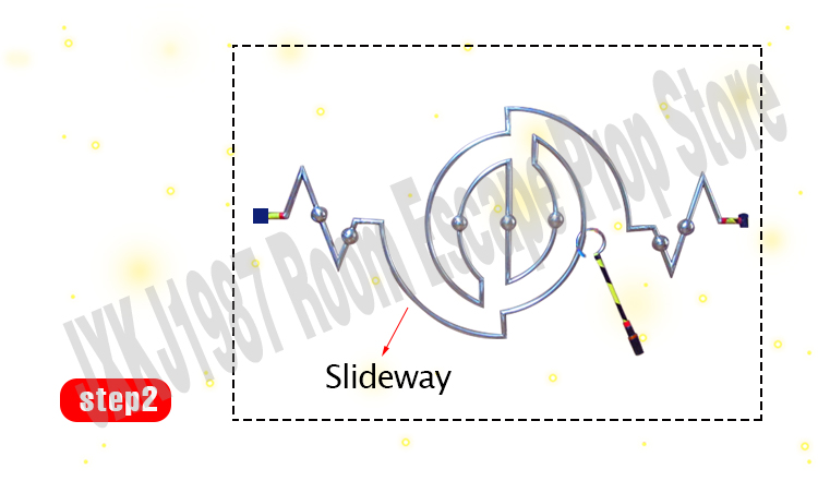 de passagem para desbloquear anel de ferro antitrapaça slideway jxkj1987