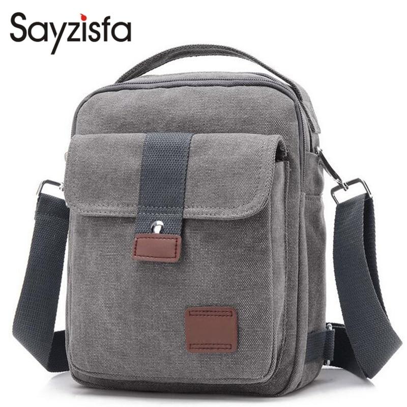 Sayzisfa Brand New 2017 Men messenger bags men's canvas single Shoulder bag Travel Crossbodys Bag handbags male's best bag T357