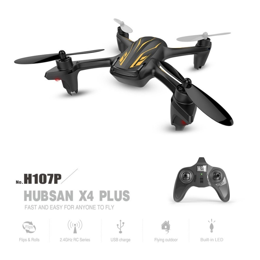 Hubsan X4 Plus H107P 2.4GHz 4CH 6 axis Gyro Mini Drone RTF RC Quadcopter With 3D Flips Rolls Headless Mode Altitude Hold