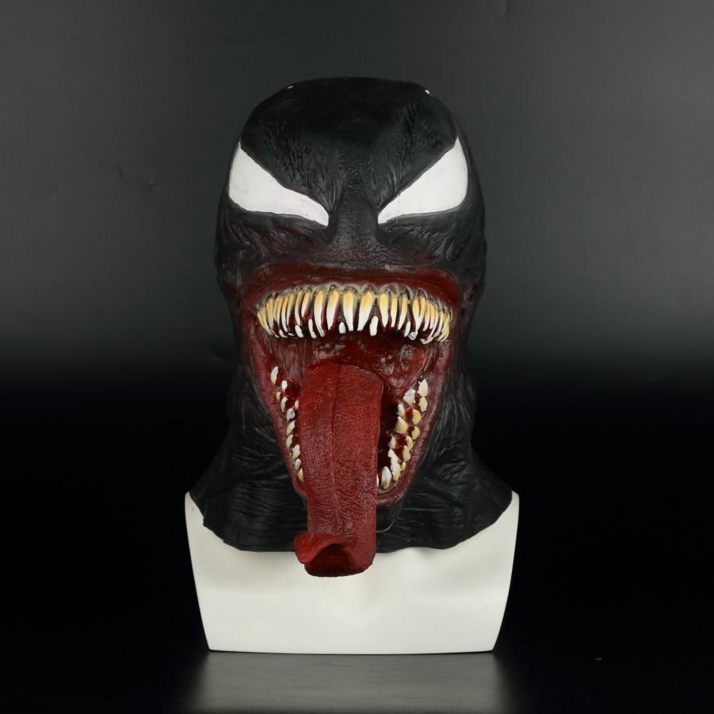 Image 2 - Spider Man The Venom Mask Cosplay Spider Man Edward Brock Dark  Superhero Venom Latex Masks Helmet Halloween Party PropsBoys Costume  Accessories