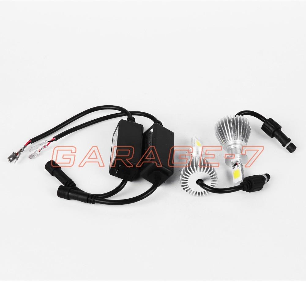 ФОТО 60W/Set 12V H3 2200LM 6000K Mini LED Headlight High Lumen Bulb COB Replacement  With New Design One Pair
