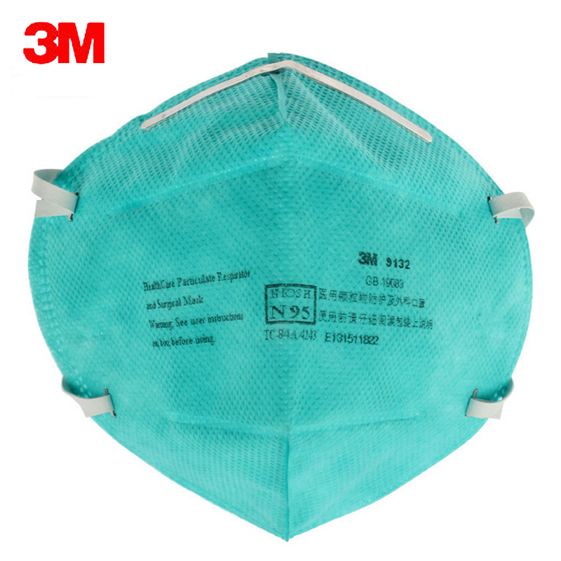 5pc 3M 9132 Surgical Masks Anti Particulate Influenza Virus N95 Dust Mask hospital CDC Dust Masks Particles Medical Particulate antibiotic pm2 5 masks child particles basic m90102