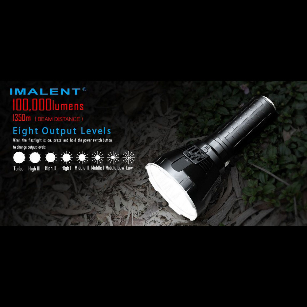 LED Flashlight Battery 100000 Imalent Ms18 Recharge Cree Xhp70 Oled-Display Intelligent-Charging
