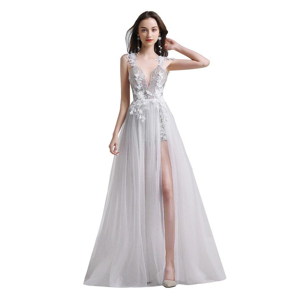 319639075200b Finove 2019 Prom Dress New Design Sexy Light Illusion Tulle Beading ...