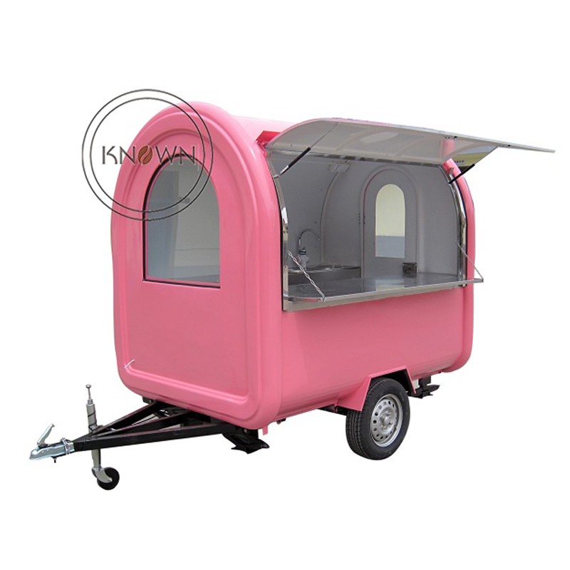 FOB Price For KN-220B mobile food carts/trailer/ ice cream truck/snack food carts with free shipping by sea