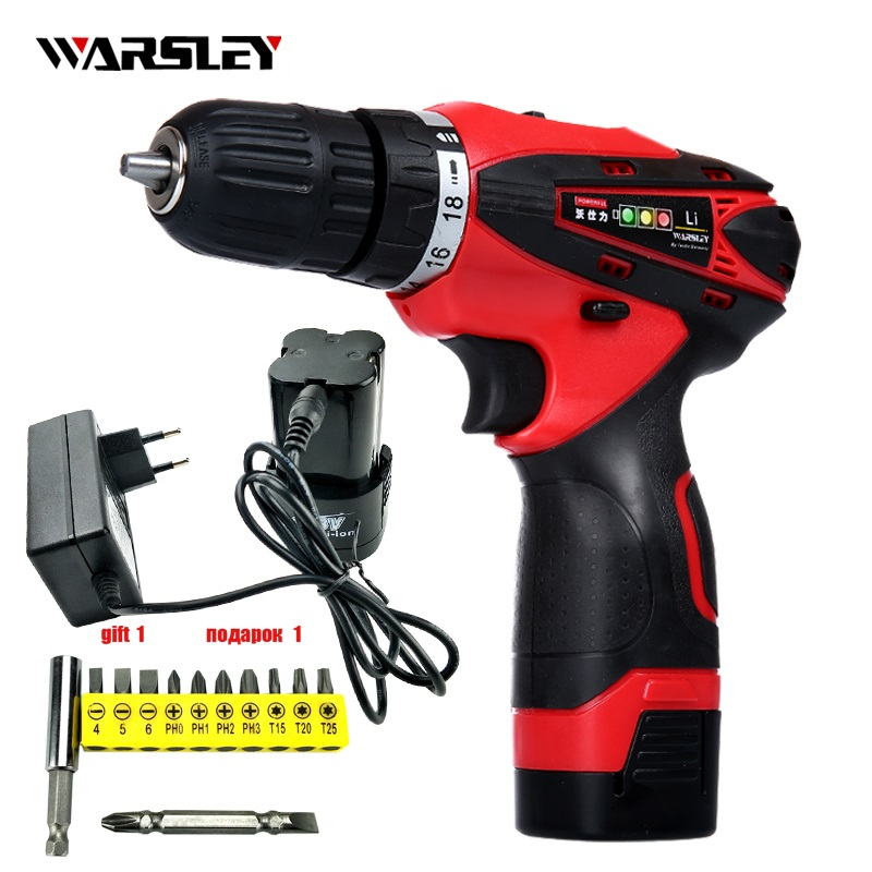 16.8V Batteries Screwdriver electric drill Power Tools Cordless rechargeable li ion Drill electric Screwdriver torque drill free shipping brand proskit upt 32007d frequency modulated electric screwdriver 2 electric screwdriver bit 900 1300rpm tools