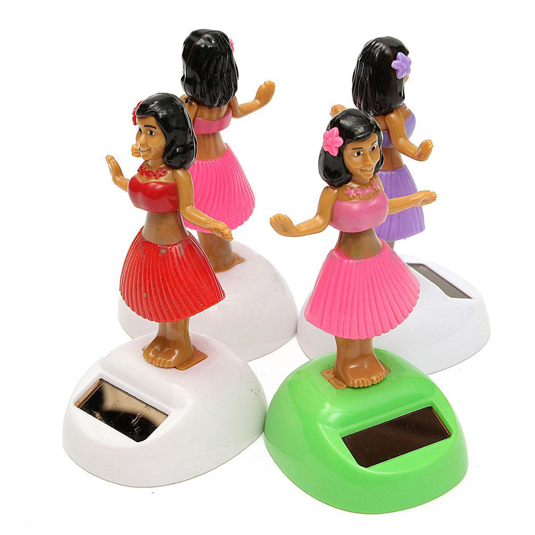 4x Solar Powered Dancing Hula Girl Swinging Bobble font b Toy b font Gift For Car