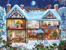 3D Diamond Painting Cross Stitch Snow House Christmas Rhinestone Crystal Needlework  Embroidery Full Decorative