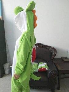 Image 2 - ผู้ใหญ่ Yoshi Onesies ชุดนอนการ์ตูนชุดนอน Kigurumi ชุดคอสเพลย์ชุดนอนชุดนอนสัตว์ pijama masculino
