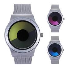 2017 nouveau mode hommes femmes Étoiles vortex aurora montre-bracelet horloges heure unisexe platine Quartz Montres bracelet en acier cadeau H3