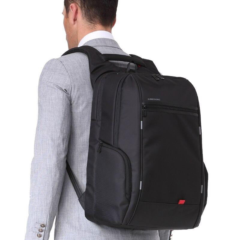 Image 2 - Kingsons alta qualidade portátil mochila de negócios da moda das mulheres dos homens casual viagem mochila bolsa de ombro com carga usb externoMochilas   -