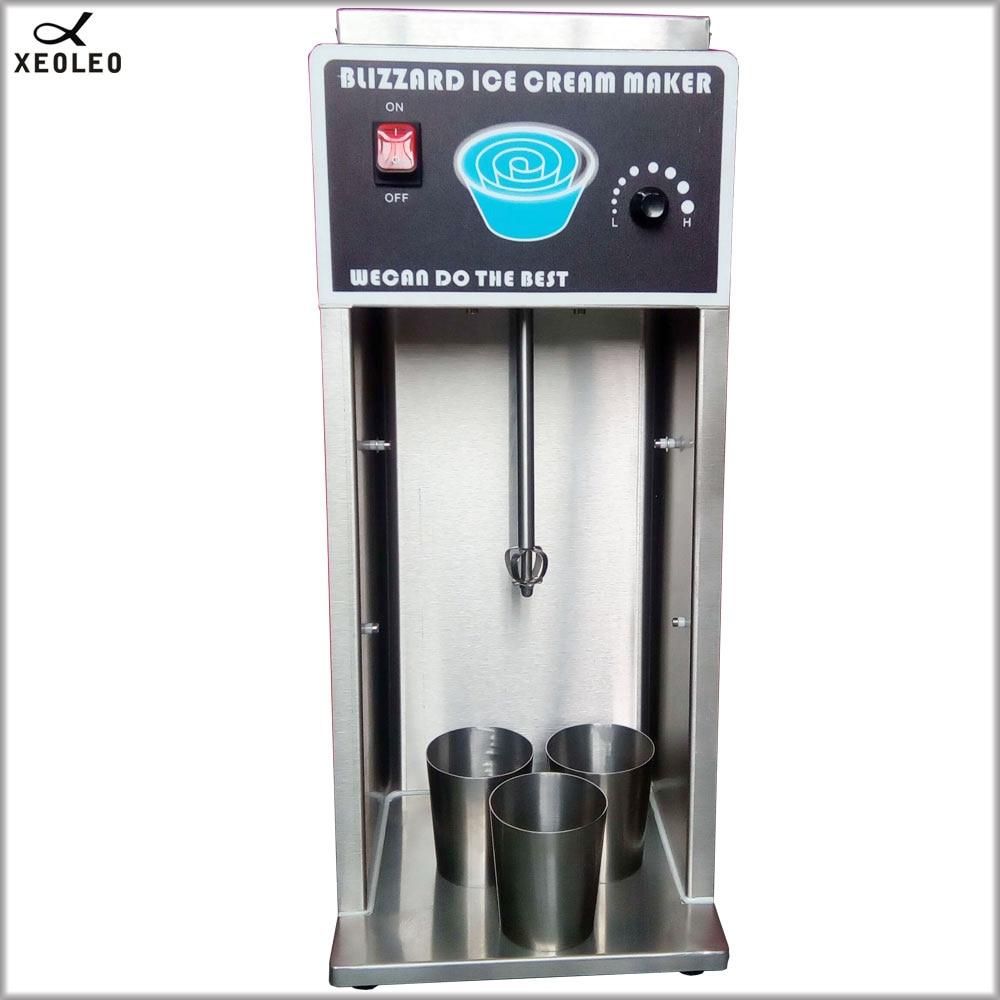 XEOLEO Multifunctional Flurry Ice cream maker Blizzard Ice Cream machine 8000rpm 750W Stainless steel Stepless Milkshaker CE