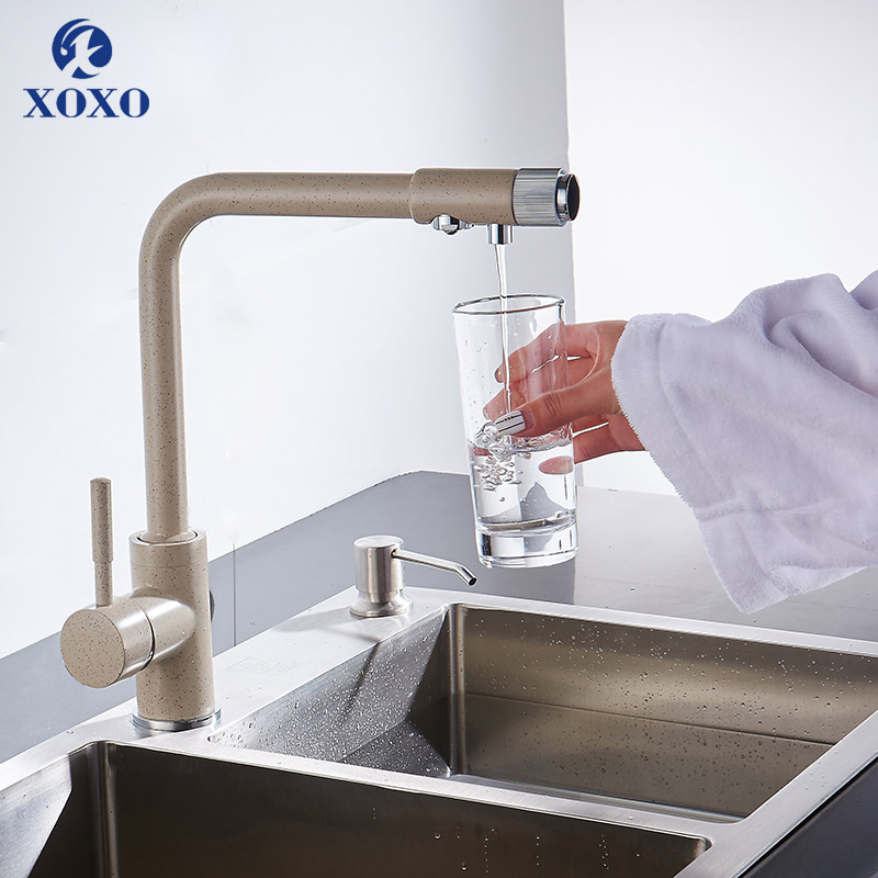 XOXO Kitchen Purify Faucets Drinking Water Filter Kitchen Deck Mounted Mixer Tap Pure Water Filter Kitchen Sinks Taps 83029
