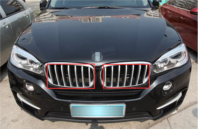 ABS Plastic Grill Grille Trim Cover For BMW X6 2015 & For BMW X5 F15 2014 2015 2pcs kit accessory abs chrome grill grille frame cover for bmw x3 f25 2011 2015