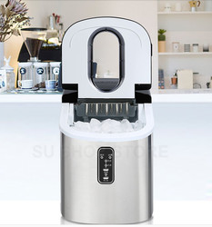 16kgs/24H Portable Automatic ice Maker, Household bullet round ice make machine for family, small bar,coffee shop