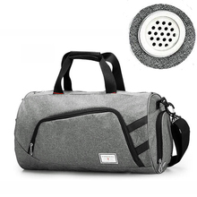купить 35L Canvas Men Sports Bag For Gym Large Women Training Bag Outdoor Camping Storage bag Basketball fitness Crossbody Luggage Bags дешево