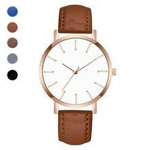 Woman Man Classic Quartz Wrist Watch PU Leather Strap Business Fashion LXH