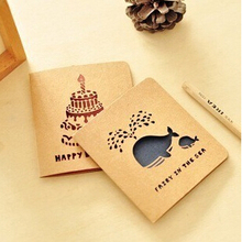 Vintage Style Hollow-Out  Greeting Card Postcard Birthday Gift Card Set Message Card Letter Envelope Gift Card