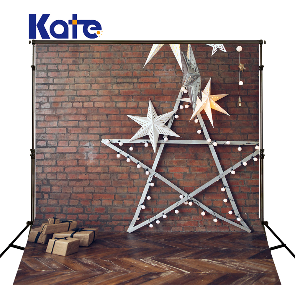 KATE 10x10ft Children Background Solid Brick Wall Backdrops Vintage Wood Floor Backdrop Baby Star Backdrop for Photo Stuido