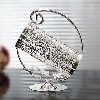 Silver quality fashion theroom wine rack derlook entrance wine cooler decoration