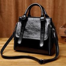 2019 Women's Genuine Leather Handbags Luxury Brand Designer Handbags Women Shoulder Bags