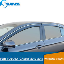 Window Visor for TOYOTA CAMRY 2012-2017 side window deflectors rain guards SUNZ