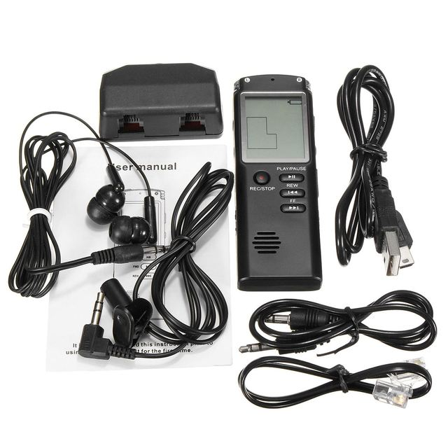 8GB USB Voice Recorder Rechargeable  6