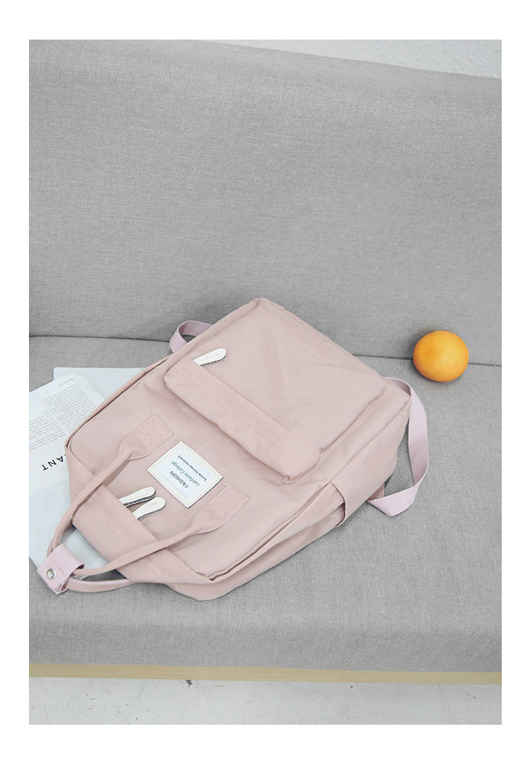 HTB1wCvpsb9YBuNjy0Fgq6AxcXXaZ - Women Hot Canvas Backpacks Candy Color Waterproof  School Bags for Teenagers Girls Laptop Backpacks Patchwork Backpack New