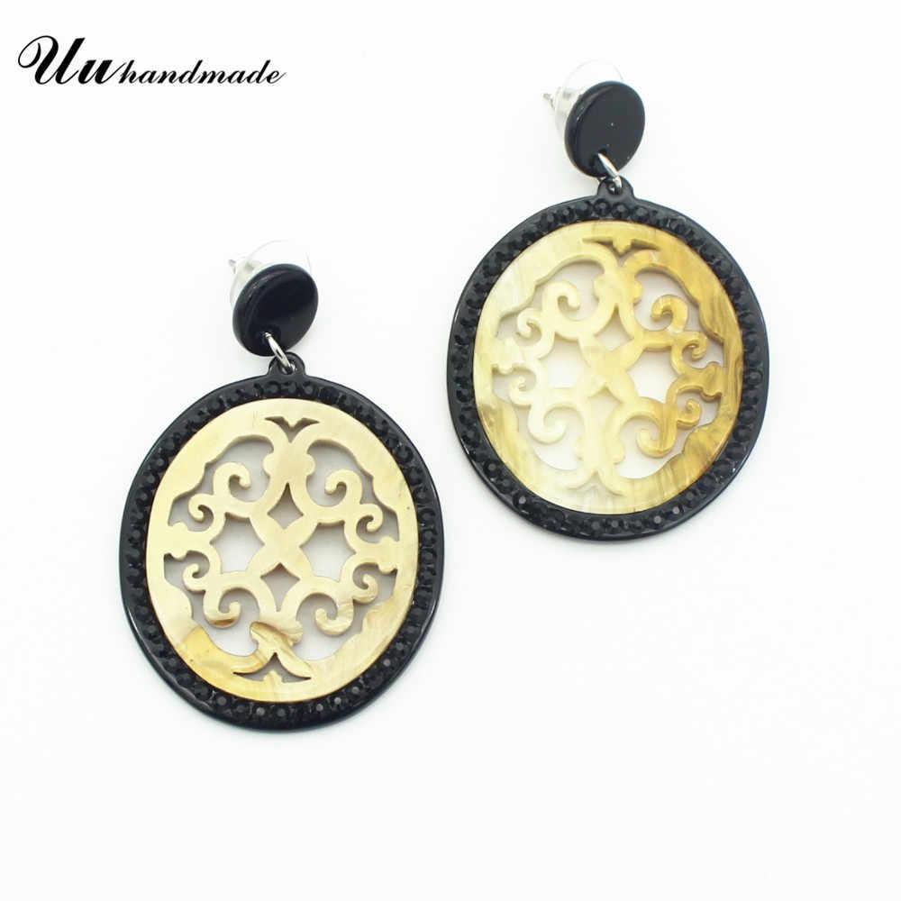 Earings Ethnic Round Earrings For Women Pendientes Mujer Earring Fashion Jewelry Oorbellen Brincos boucle d'oreille femme 2018