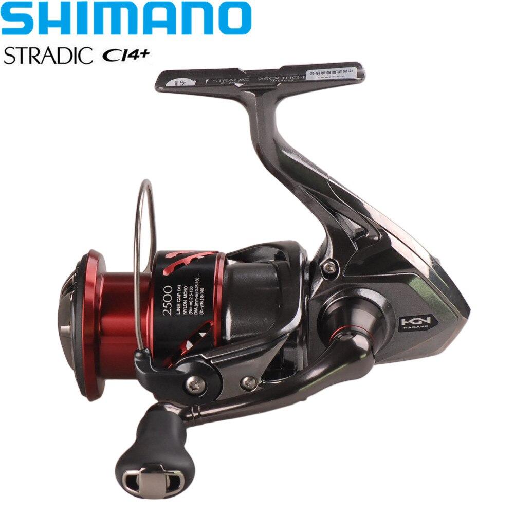 Shimano Reel STRADIC CI4 + 1000HG/2500HG/C3000HG 6,0: 1/6 + 1BB Hagane de X-Barco de agua salada carrete de pesca Moulinet Peche