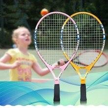 Теннисные ракетки из углеродного волокна От 0 до 6 лет Детские ракетки высокого качества для детей развлечения с сумкой мяч струны Sweatband